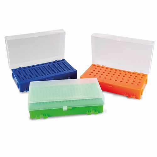 RACK DUPLA FACE PARA  MICROTUBOS DE PCR DE  0,2ML A 1,5ML